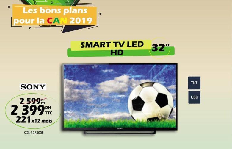 Promo Tangerois Electro Smart TV 32° HD SONY 2399Dhs au lieu de 2599Dhs