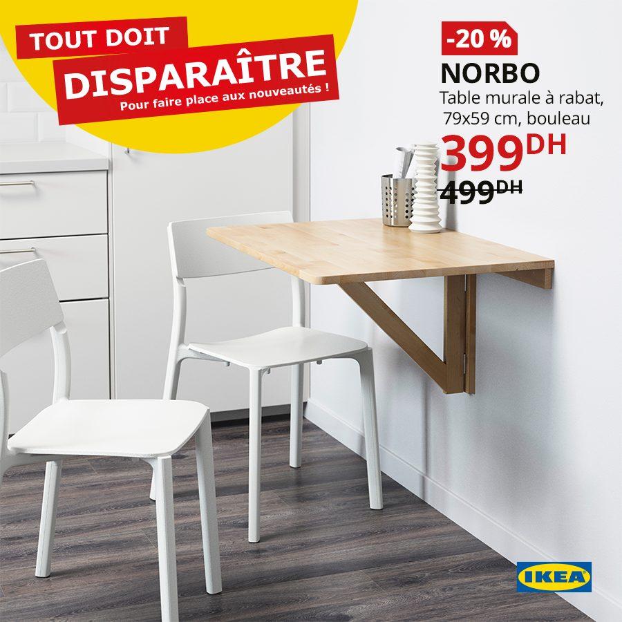Promo Ikea Maroc Table Murale à Rabat Norbo 399dhs Au Lieu