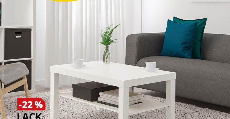 Photo of Promo Ikea Maroc Table basse blanc LACK 179Dhs au lieu de 229Dhs