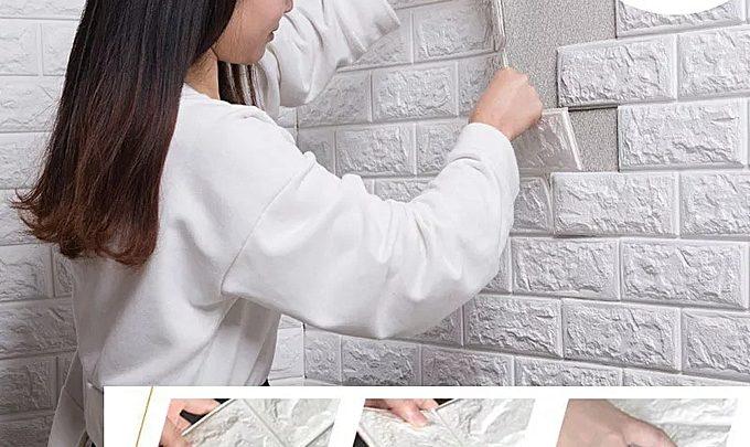 Photo of Offre Jumia Papier Mural Adhésif En Brique 3D Décoration 77/70 Blanc 36Dhs au lieu de 149Dhs