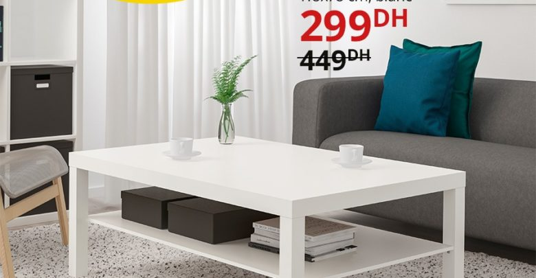 Photo of Promo Ikea Maroc Table basse LACK 299Dhs au lieu de 449Dhs