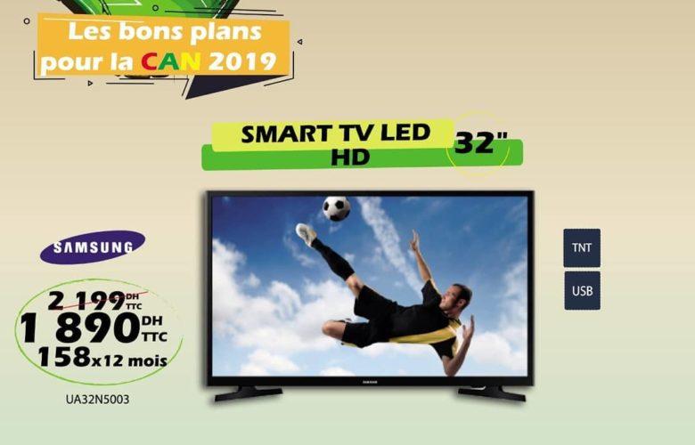 Promo Tangerois Electro Smart TV 32° HD SAMSUNG 1890Dhs au lieu de 2199Dhs