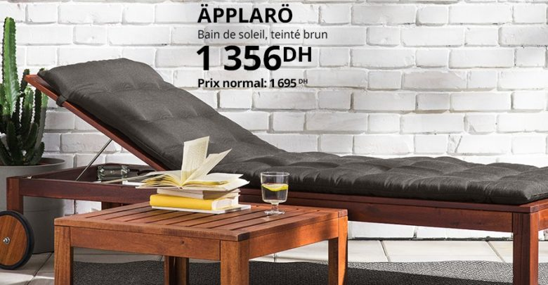Photo of Promo Ikea Family Bain de soleil APPLARO 1356Dhs au lieu de 1695Dhs