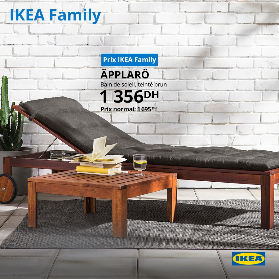 promo ikea family bain de soleil applaro 1356dhs au lieu. Black Bedroom Furniture Sets. Home Design Ideas