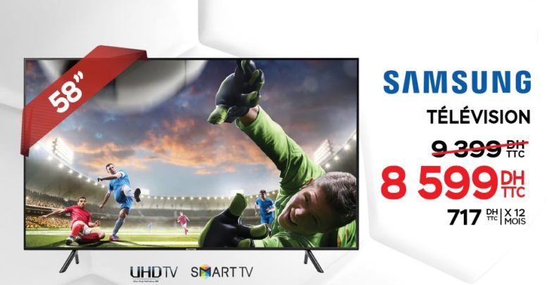 Photo of Promo Electroplanet Smart TV 4K 58° SAMSUNG 8599Dhs au lieu de 9399Dhs