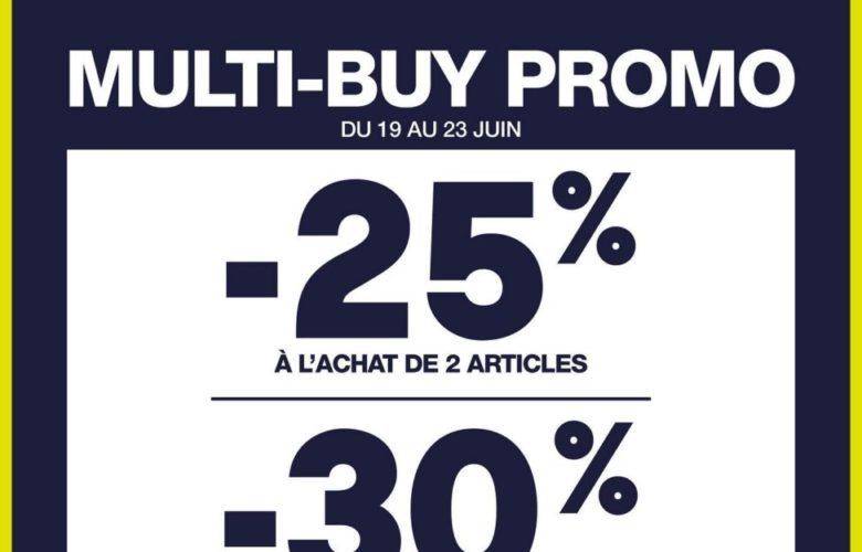 Offre Multi-buy Gap Maroc -25% et-30% à l'achat de 2 et 3 articles et plus jusqu'au 23 Juin 2019