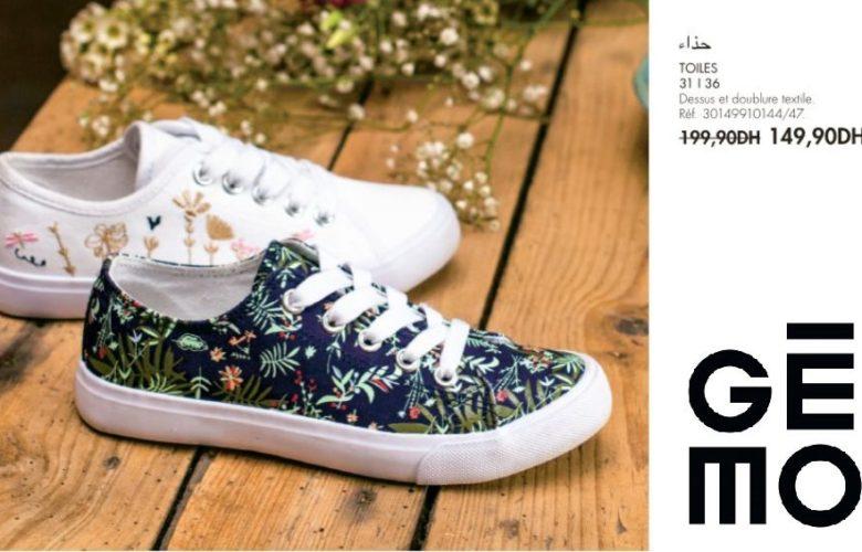 Promo Gémo Maroc Chaussure toile fille 149Dhs au lieu de 199Dhs