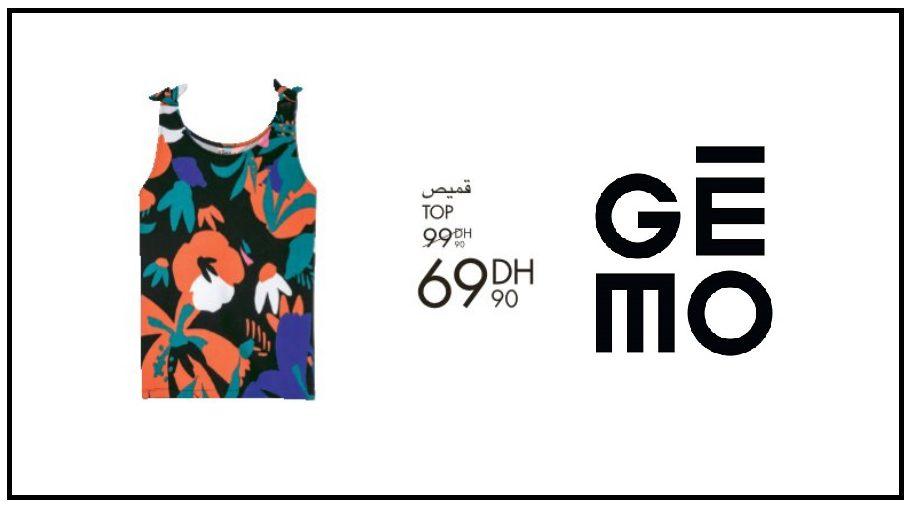 Promo Gémo Maroc Haut de vêtement femme 69Dhs au lieu de 99Dhs