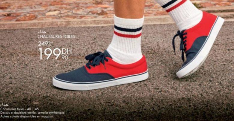 Photo of Promo Gémo Maroc Chaussures Toiles Hommes 199Dhs au lieu de 249Dhs