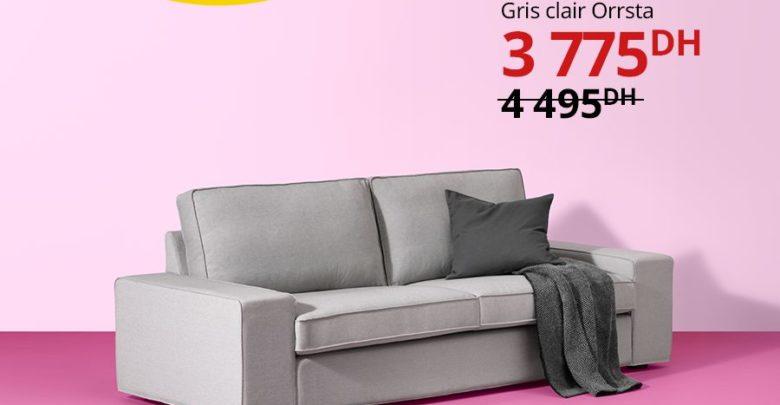 Photo of Promo Ikea Maroc Canapé 3 places KIVIK 3775Dhs au lieu de 4495Dhs