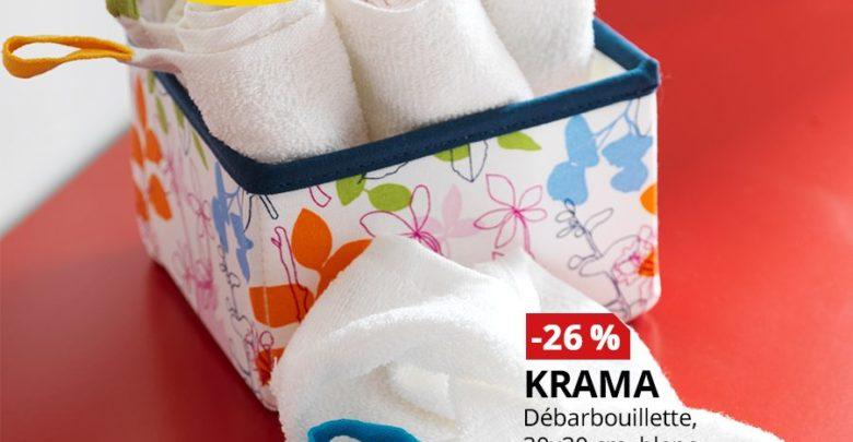 Photo of Promo Ikea Maroc Débarbouillette blanc KRAMA 29Dhs au lieu de 39Dhs