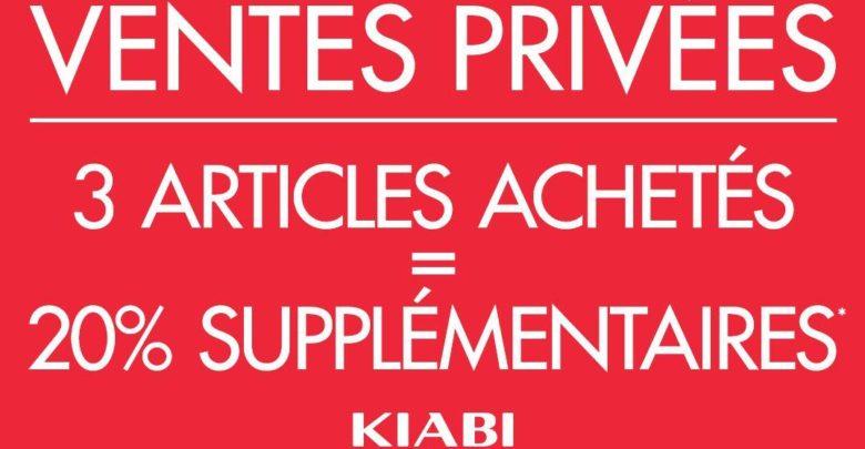 Ventes Privée Kiabi Maroc 20% de réduction dès 3 articles achetés Jusqu'au 20 Juin 2019