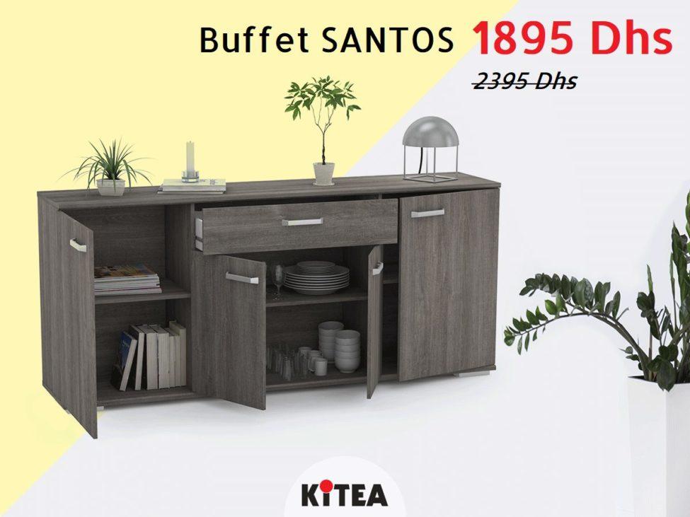 Promo Kitea Buffet SANTOS 1895Dhs au lieu de 2395Dhs