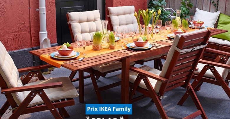 Photo of Promo Ikea Family Table à rabat teinté brun APPLARO 1596Dhs au lieu de 1995Dhs