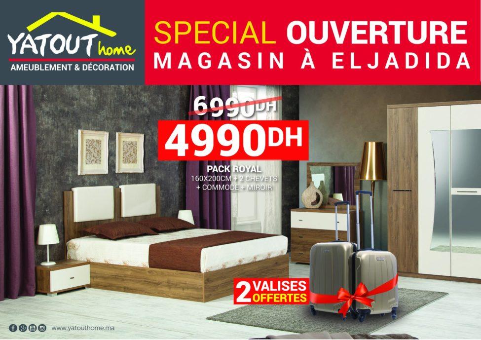 Promo Yatout Home Magasin EL Jadida Pack Royal 4990Dhs au lieu de 6990Dhs
