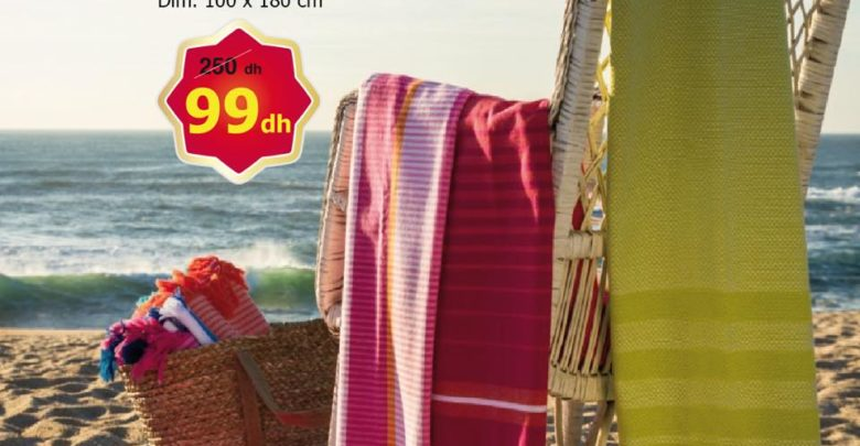 Photo of Soldes Alpha55 Collection Draps de plage à partir de 99Dhs au lieu de 250Dhs