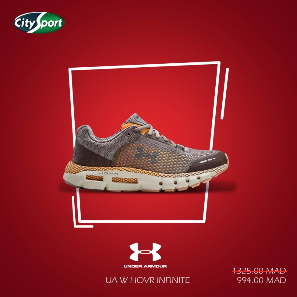 Promo City Sport UNDER ARMOUR UA W HOVR INFINITE 994Dhs au lieu de 1325Dhs