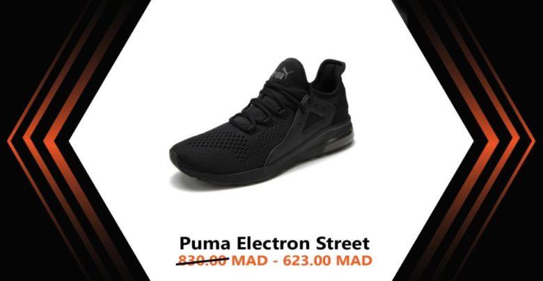 Photo of Soldes Courir Maroc Chaussure PUMA Electron Street 623Dhs au lieu de 830Dhs