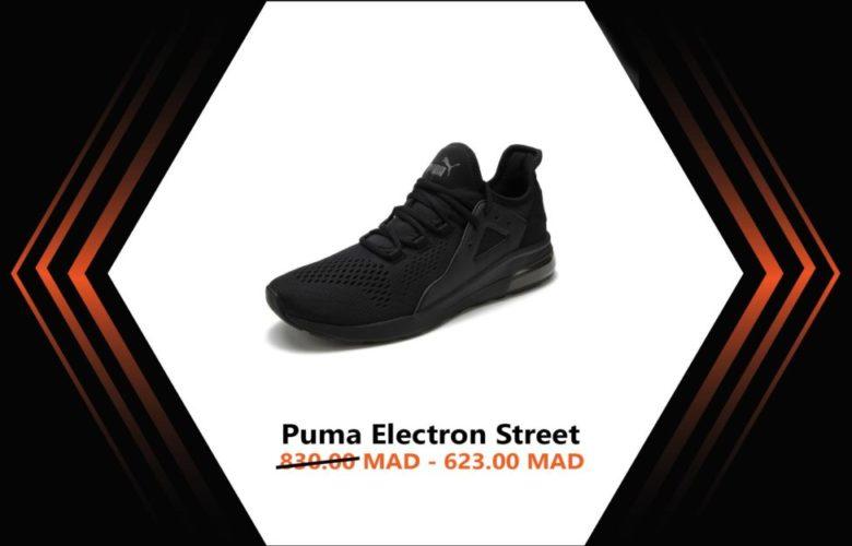 Soldes Courir Maroc Chaussure PUMA Electron Street 623Dhs au lieu de 830Dhs
