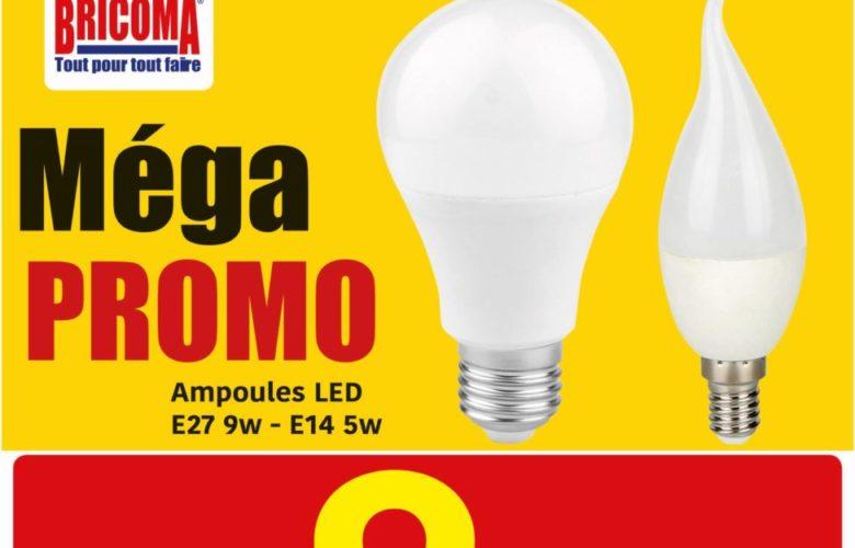 Méga PROMO Brioma Ampoules LED 9.90Dhs par pack de 3 pièces