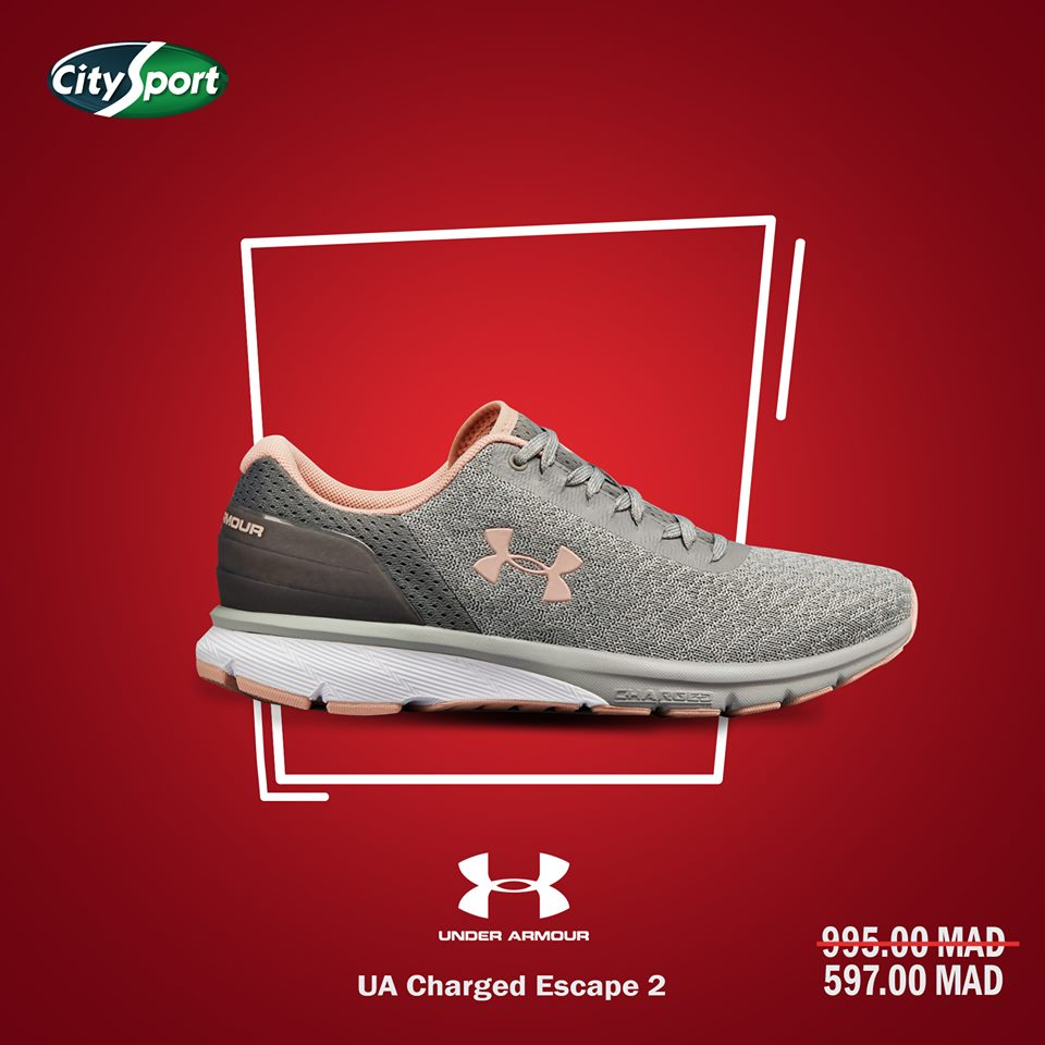 Soldes City Sport UNDER ARMOUR Charged Escape 2 UA 597Dhs au lieu de 995Dhs