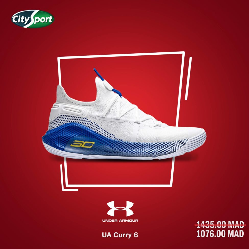 Soldes City Sport UNDER ARMOUR Curry 6 UA 1076Dhs au lieu de 1435Dhs