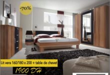 Liquidation Cozy Home Lit VERA + table de chevet 1900Dhs du 18 au 21 Juillet 2019