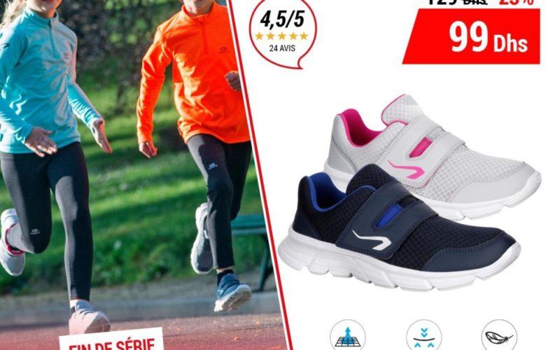 Soldes Decathlon Maroc Chaussure Enfant EKIDEN ONE 99Dhs au lieu de 129Dhs