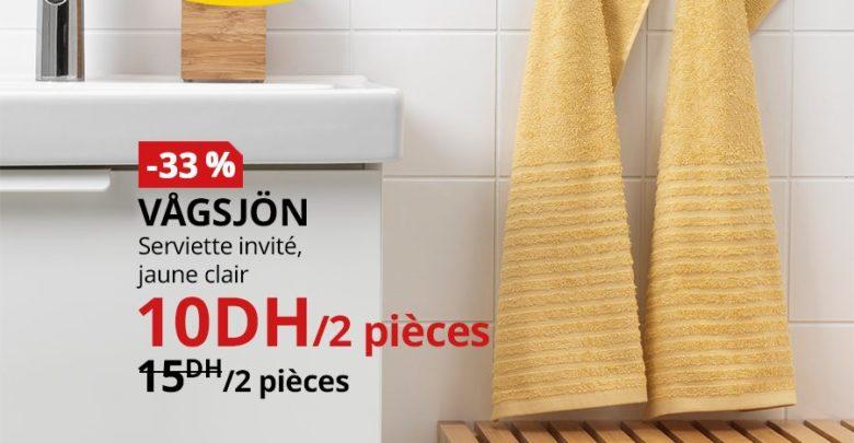 Photo of Soldes Ikea Maroc Lot de 2 Serviettes invité VAGSJON 10Dhs au lieu de 15Dhs