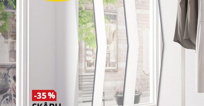 Photo of Soldes Ikea Maroc Miroir SKABU 30x140cm blanc 115Dhs au lieu de 179Dhs