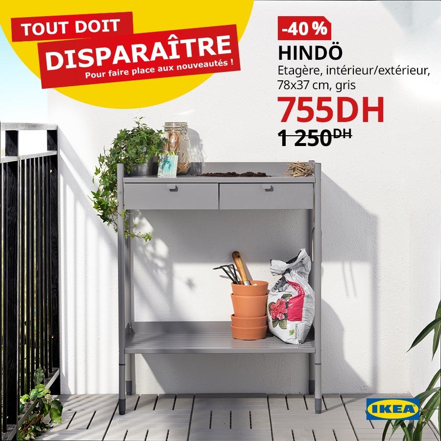 Soldes Ikea Maroc Étagère int/ext HINDO 755Dhs au lieu de 1250Dhs