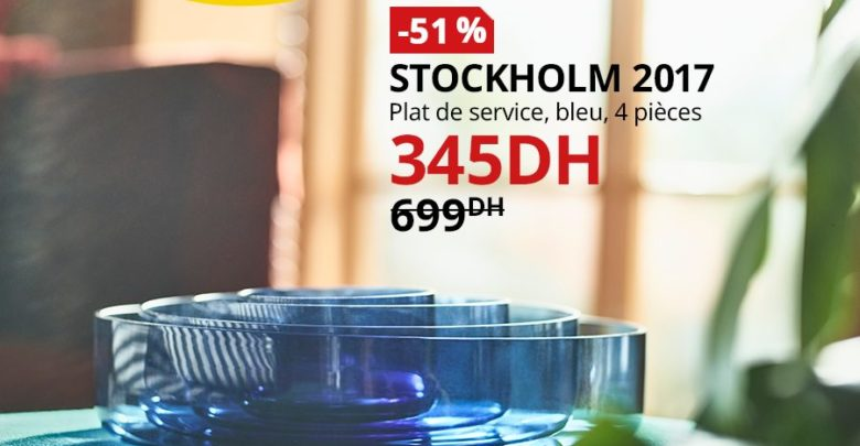 Photo of Soldes Ikea Maroc Plat de service 4 pièces STOCKHOLM 345Dhs au lieu de 699Dhs