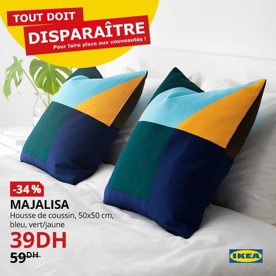 Promo Ikea Maroc Housse de coussin MAJALISA 39Dhs au lieu de 59Dhs