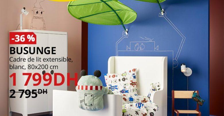 Soldes Ikea Maroc Cadre Lit extensible BUSUNGE 1799Dhs au lieu de 2795Dhs