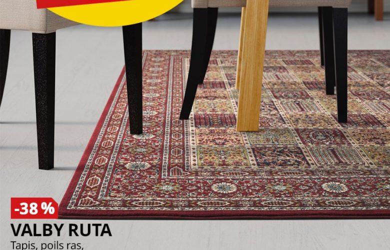 Soldes Ikea Maroc Tapis VALBY RUTA 170x230cm 799Dhs au lieu de 1295Dhs