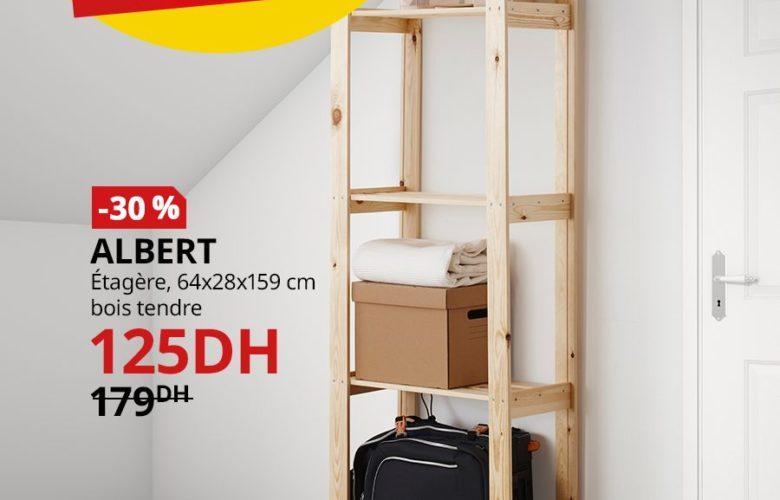 Soldes Ikea Maroc Étagère ALBERT bois tendre 125Dhs au lieu de 179Dhs