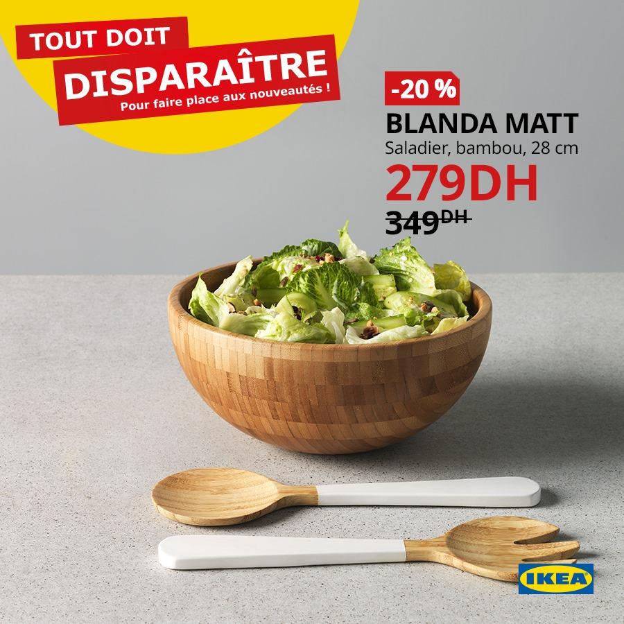 Soldes Ikea Maroc Saladier bambou BLANDA MATT 279Dhs au lieu de 349Dhs