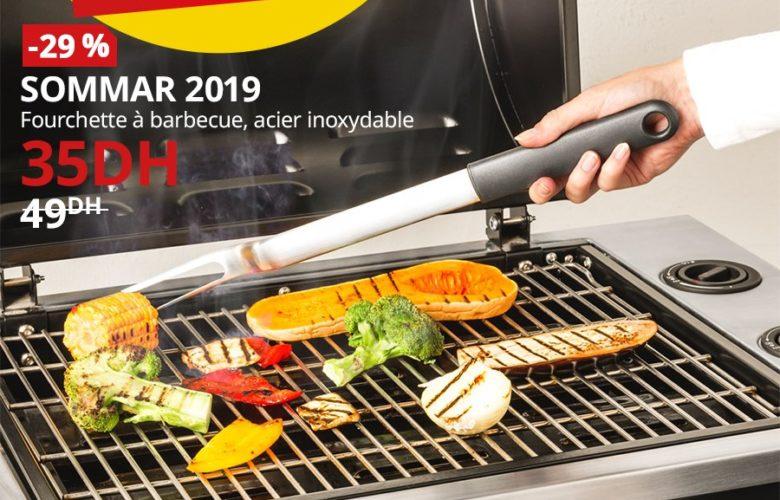 Promo Ikea Maroc Fourchette à barbecue SOMMAR 35Dhs au lieu de 49Dhs