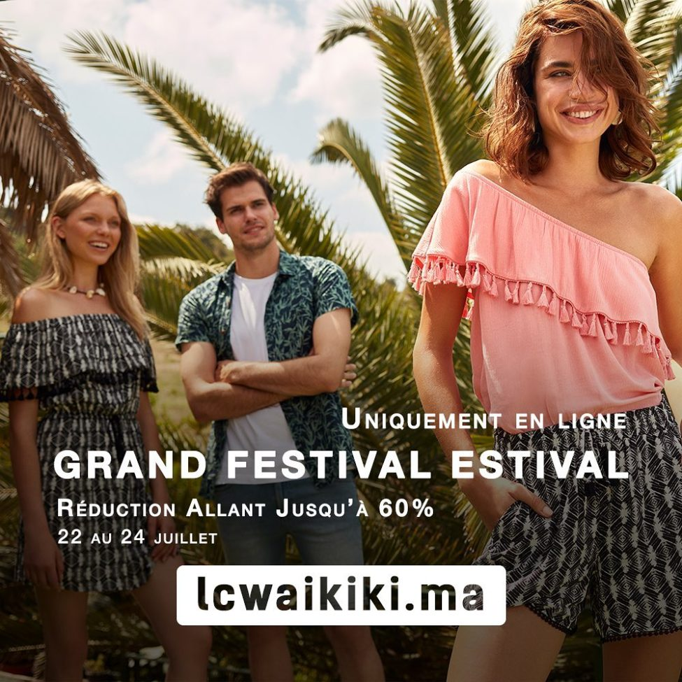 Soldes LC Waikiki Maroc Grand Festival Estival Jusqu'au 24 Juillet 2019