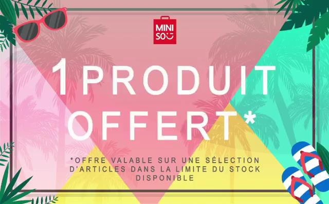Photo of Summer Deal chez Miniso Maroc 1=2