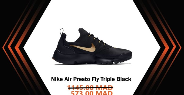 Photo of Soldes Courir Maroc Nike Air Presto Fly Triple Black 573Dhs au lieu de 1145Dhs