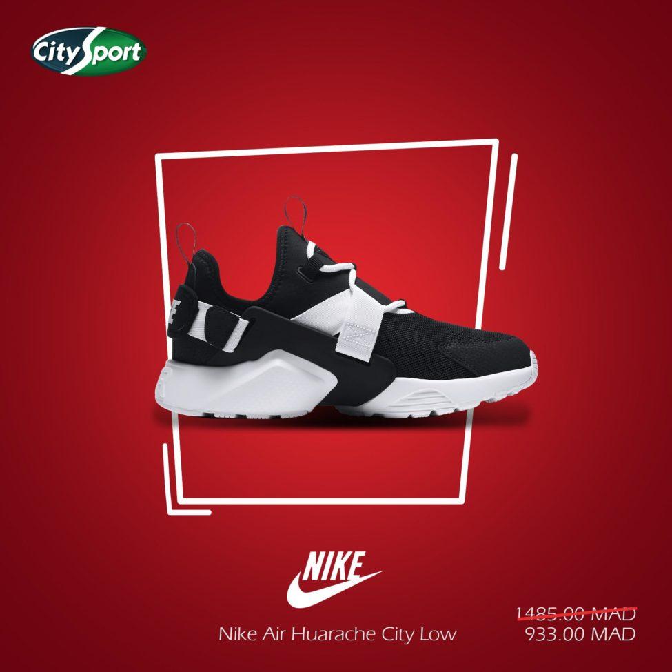 Soldes City Sport Nike Air HUARACHE City Low 933Dhs au lieu de 1485Dhs