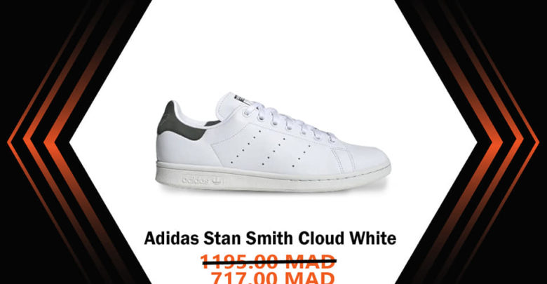 Photo of Soldes Courir Maroc Aidas Stan Smith Cloud White 717Dhs au lieu de 1195Dhs