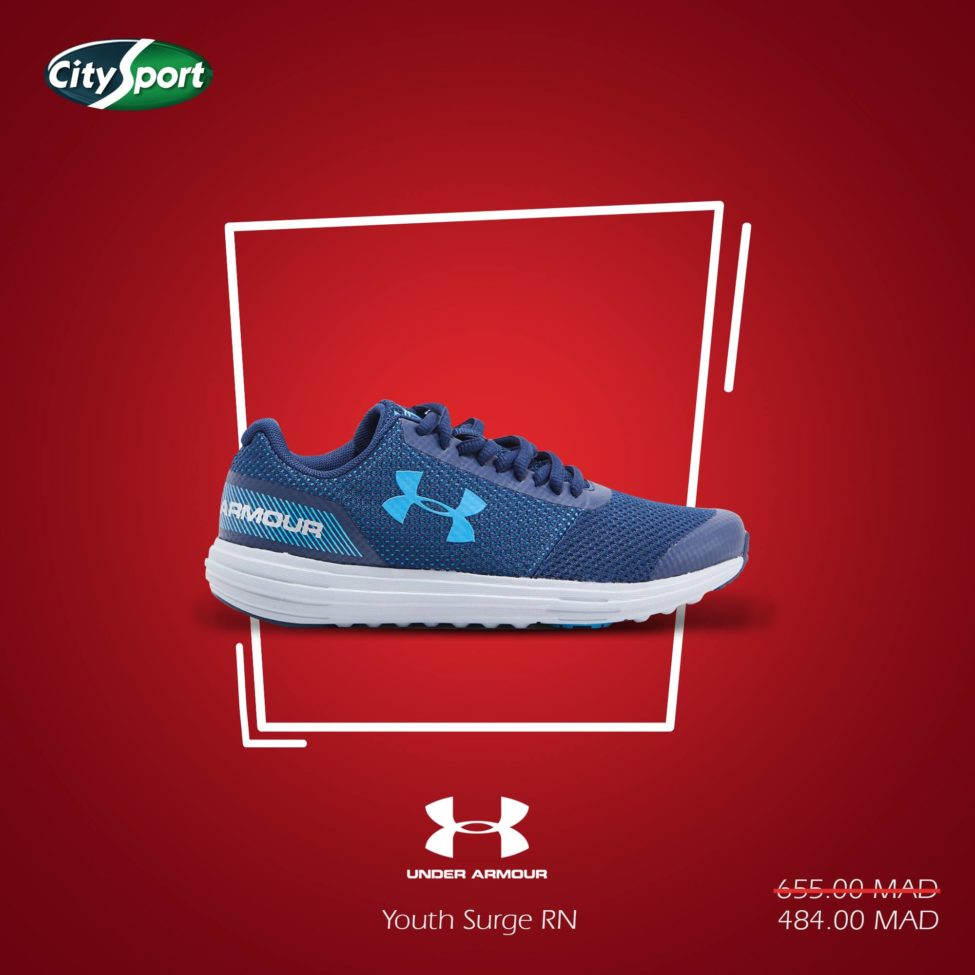 Soldes City Sport UNDER ARMOUR Youth Surge RN 484Dhs au lieu de 655Dhs