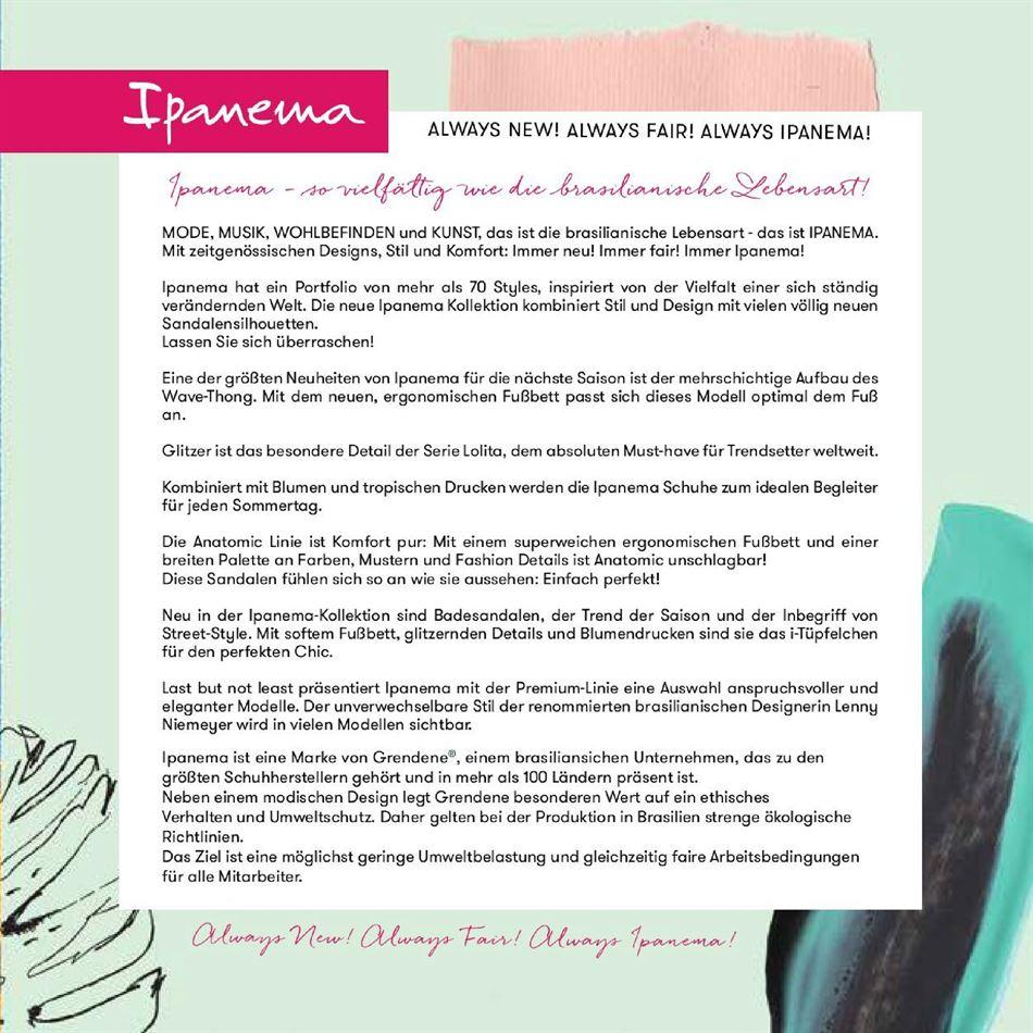 Catalogue Ipanema 2020 du 27 Août 2019 au 27 Août 2020