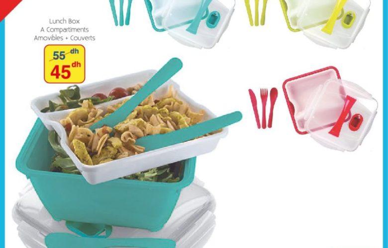 Promo Alpha55 Lunch Box à Compartiments 45Dhs au lieu de 55Dhs