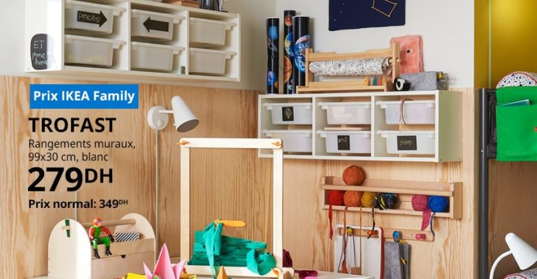 Photo of Soldes Ikea Family Rangement Mureaux blanc 279Dhs au lieu de 349Dhs