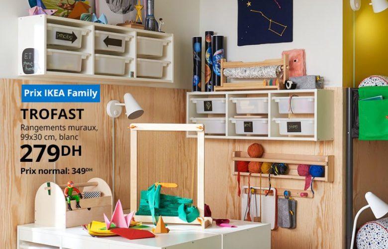 Soldes Ikea Family Rangement Mureaux blanc 279Dhs au lieu de 349Dhs