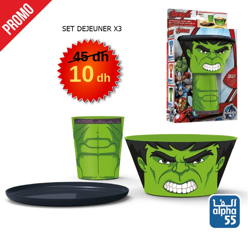 Promo Alpha55 Lunch BOX 15Dhs au lieu de 45Dhs