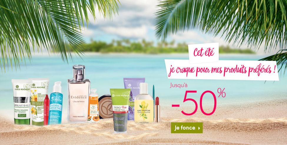 Soldes Août Yves Roches Maroc -50% sur une sélection de produits